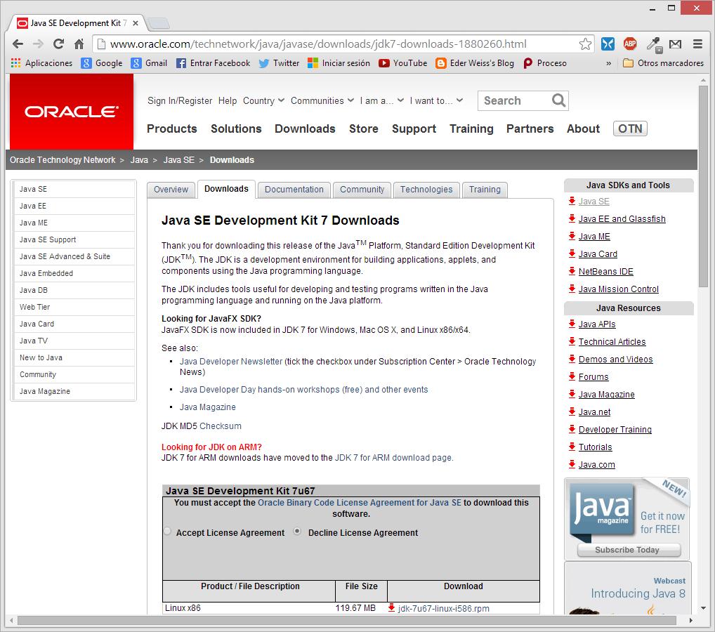 Eder Weiss's Blog: Instalación y configuración del JDK 7 ...
