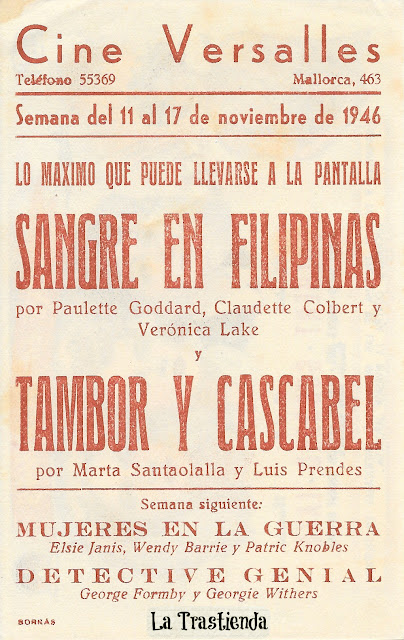 Programa de Cine - Sangre en Filipinas - Claudette Colbert - Paulette Goddard - Veronica Lake