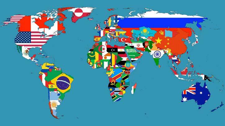 Ragam Peta Dunia Informasi Unik Menarik Tipsiana Berdasarkan Bendera Negara