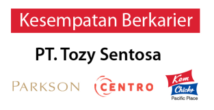 Lowongan Kerja PT Tozy Sentosa Yogyakarta Terbaru di Bulan September 2016