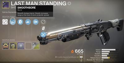 Shotgun, Last Man Standing, Destiny 2, Gambit Prime