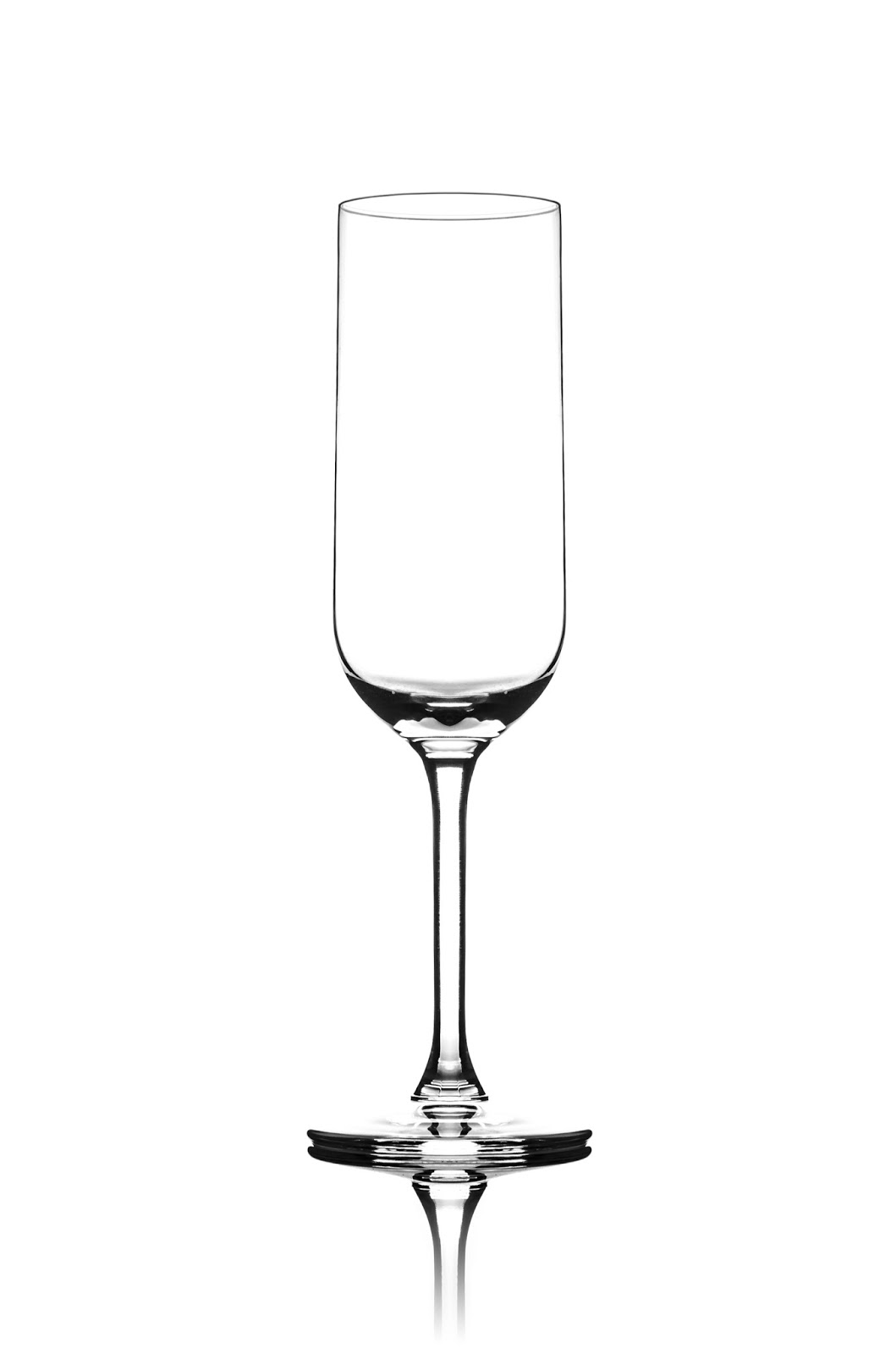 Съемка бокала для шампанского