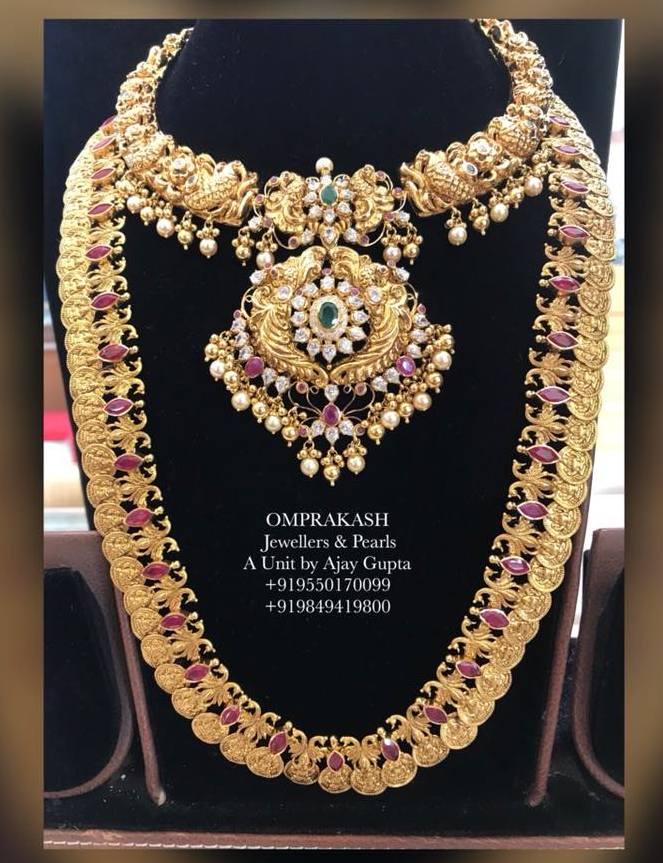 Ruby Kasu Mala by Omprakash Jewels