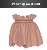 stardoll le paperbag waist skirt