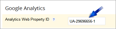 installed analytics tracking ID
