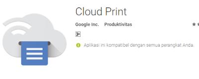 Cara cepat print file PDF dari Android menggunakan aplikasi Cloud Print