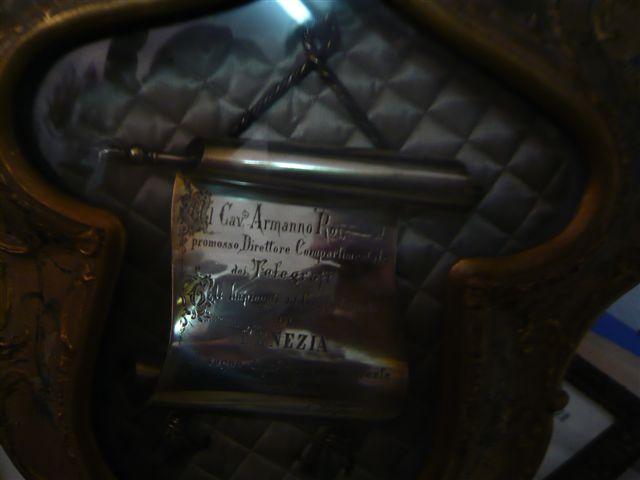Targa in argento veneziano delle Poste e Telegrafi - fine '800