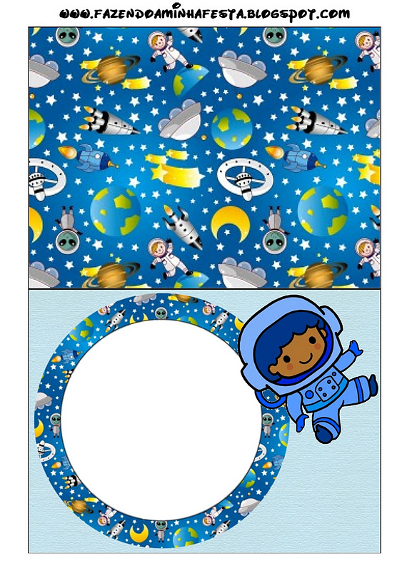 astronaut party printables - 570×800