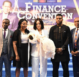Checkout These Official photos from Joseph Yobo's daughter's dedication At Christ Embassy