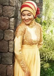 Model Baju Muslim Kebaya Pernikahan Gold Terbaru