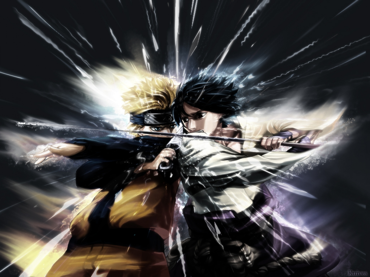 Wallpaper Keren: Special Naruto Vs Sasuke Wallpaper