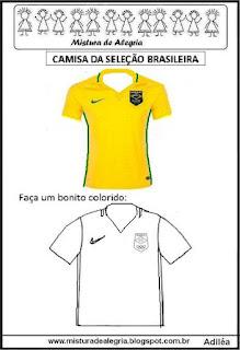Camisa da seleção brasileira nas olimpíadas