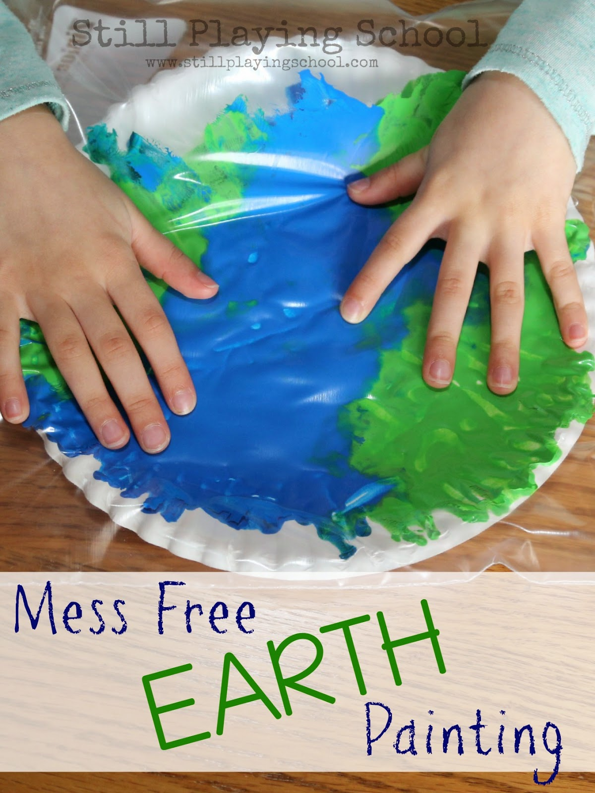 No Mess Painting In A Bag Earth Craft