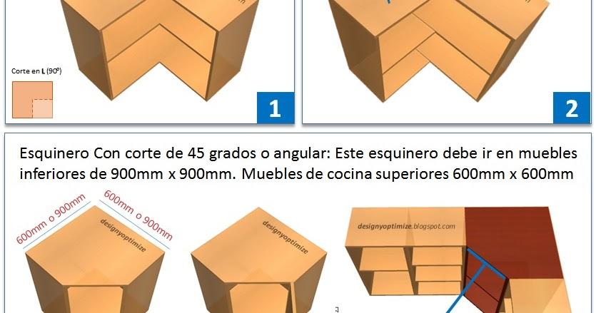 Formas de Fabricar un Mueble Esquinero de Cocina 45  90 Grados