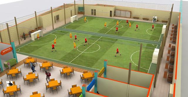Pembuatan Lapangan Futsal indoor