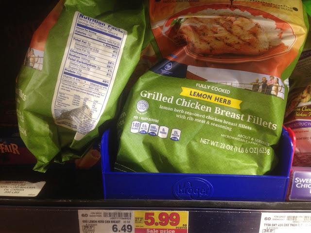 Grilled Chicken Fillets, Lemon Herb, 22 oz - Kroger