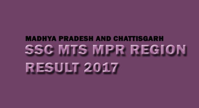 SSC MTS Madhya Pradesh Region result date
