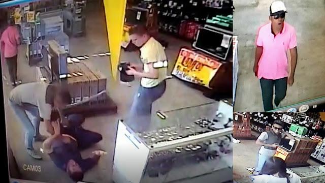 Vídeo mostra bandidos roubando arma de policial militar em Aracaju