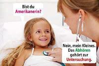 Lustige Arzt Bilder mit Text - Kind bei Untersuchung