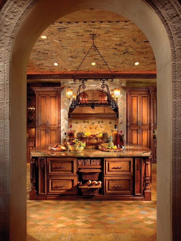 Large Stone Archway For Elegant Kitchen Design Decor Units