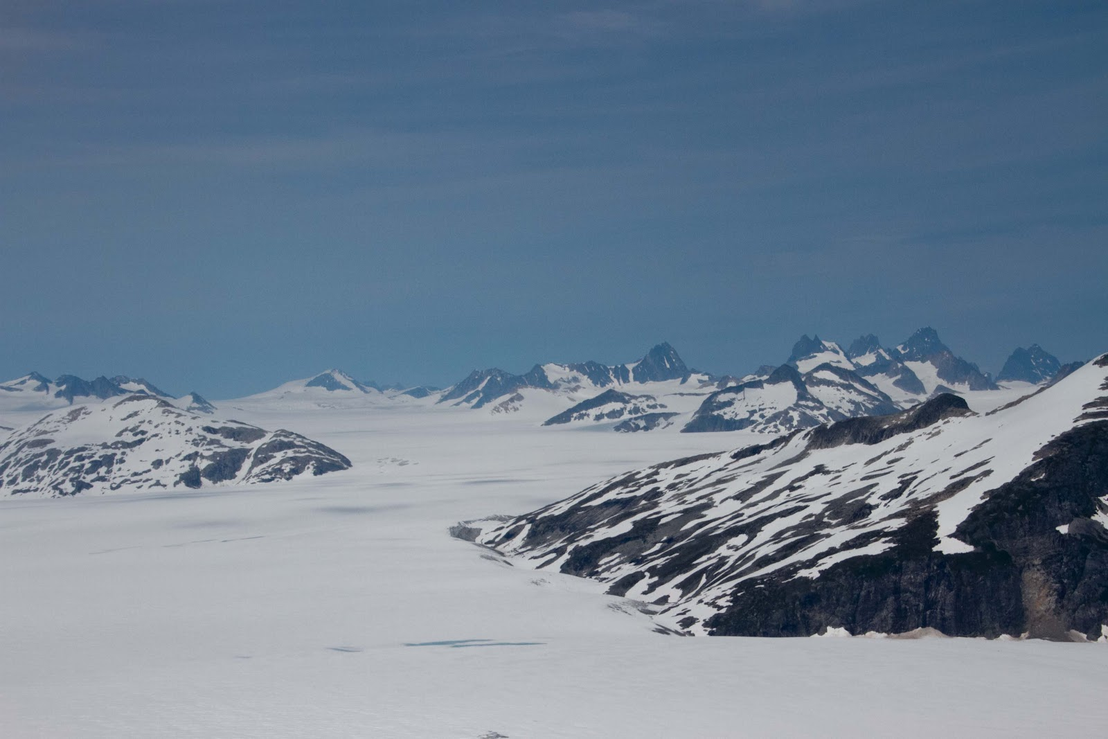 z photo and design: Flying over the Juneau Ice Field