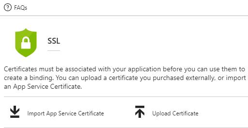 Configuración de SSL en Azure