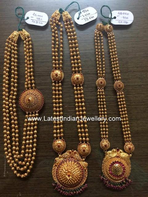 gundla haram designs with weight