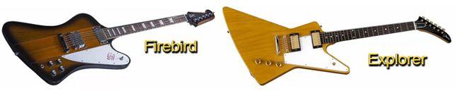 Forma de la Guitarra Gibson Firebird Inspirada en el Modelo Explorer