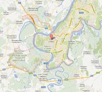 Mappa della zona di Ufa estrapolata da Google Maps