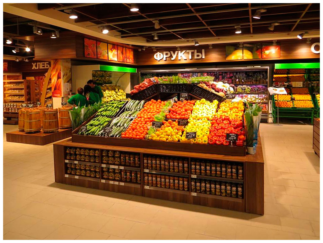 ДИЗАЙН ГИПЕРМАРКЕТА SPAR Дизайн супермаркета продуктовый магазин Спар ИШИМ ХМАО Dulisov design supermarket студия интерьер