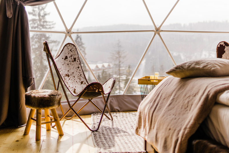Glamping tents in the Tatras