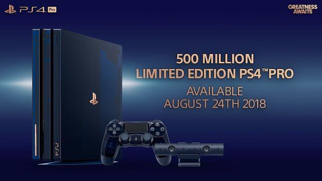 Sony presenta la PS4 Pro 500 millones Edicion limitada