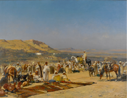 10 Orientalist Paintings by Artists from the 19th Century, with footnotes, 12