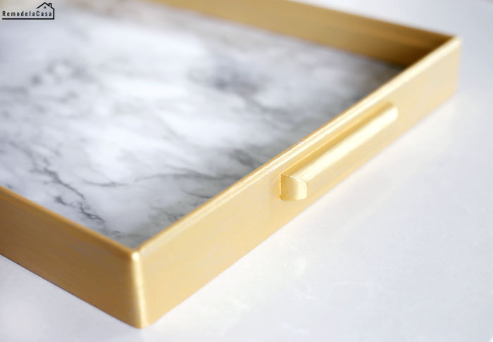 Easy projects with marble contact paper