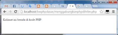 Menggabungkan kode PHP dengan HTML