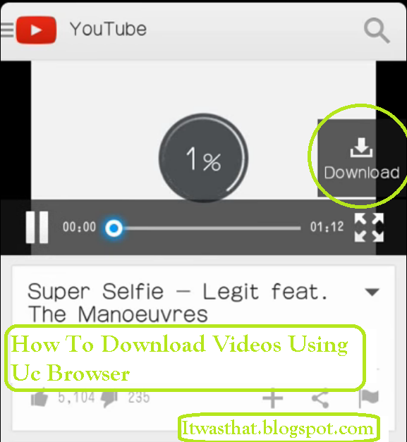Download button popup on right side. Click on it to download using UC browser.