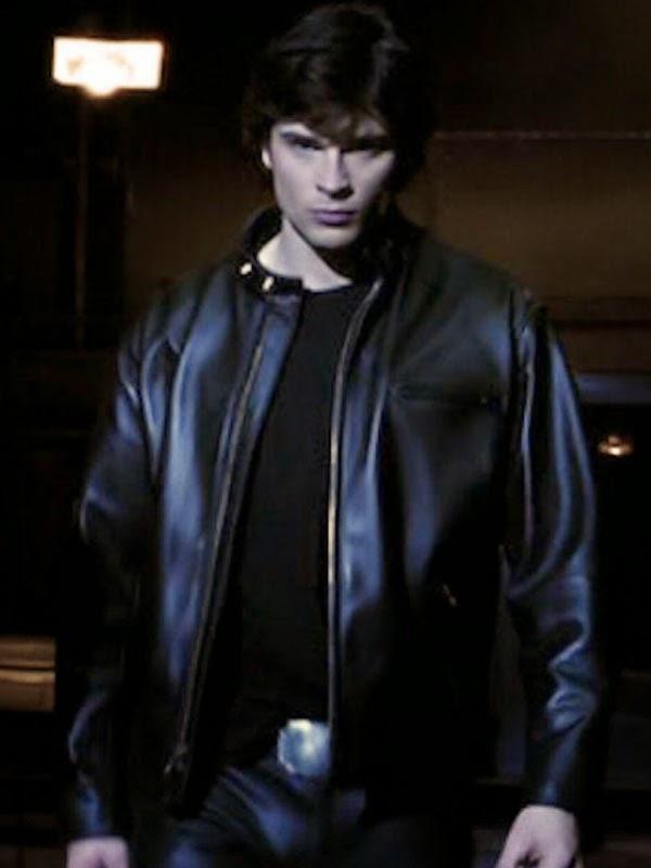 648f48098 Marilyn Buckley: Tom Welling Smallville Clark Kent Schott Jacket