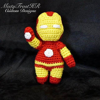 free iron man crochet pattern