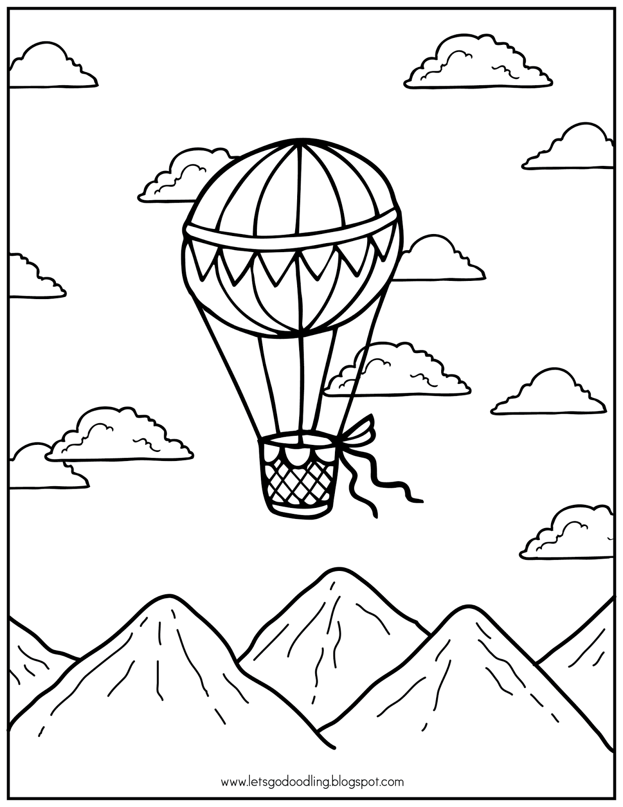 Hot Air Balloons! | Coloring pages, Steampunk coloring, Free ... | 1600x1237