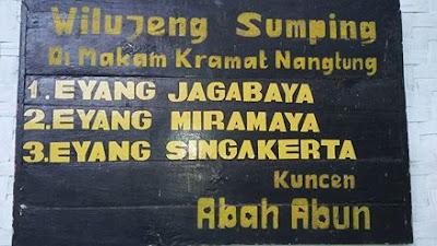Sekilas Sejarah Eyang Jagabaya Nantung Sumedang