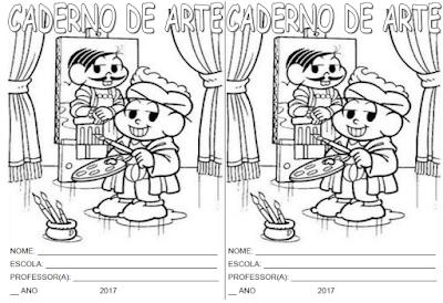 Capa de caderno de Arte