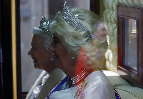 Prince Ruby, the Stuart Sapphire, St Edward Sapphire and Queen Elizabeth Pearls