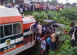 Train collides with vehicle in nigeria