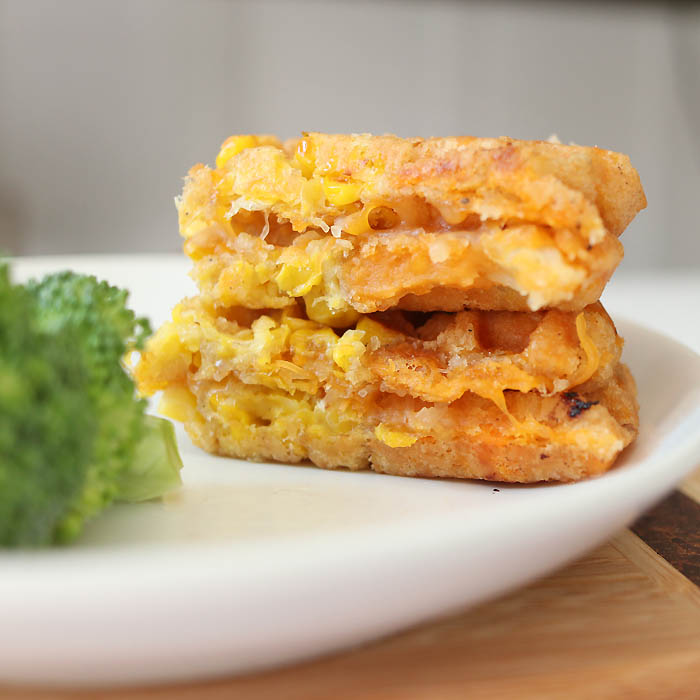 Healthier Green Giant Veggie Tot Grilled Cheese recipe