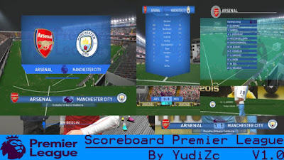 PES 2016 Scoreboard Premier League V1.0 by YudiZc