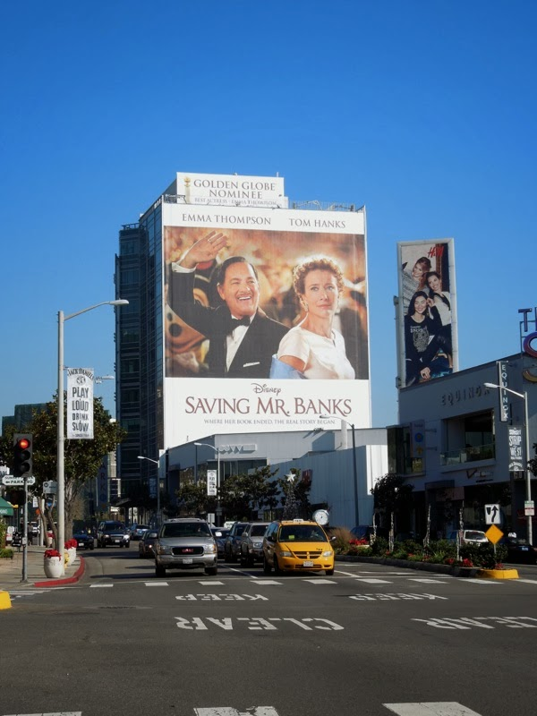 Giant Saving Mr Banks billboard Sunset Strip