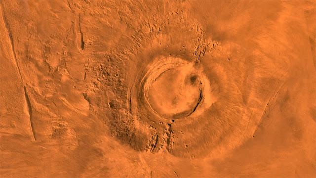 Imagem do vulcão Arsia Mons