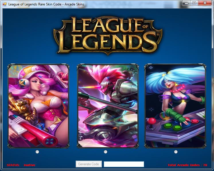 League of Legends - Rare Skin Code : League of Legends - Skin Rare Code Generator January 2015
