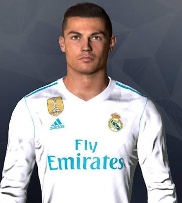 PES 2017 - Cristiano Ronaldo Face Hair 2018