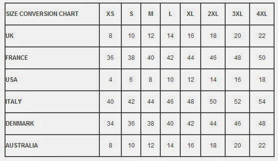 International clothing size conversion chart also hell bunny  am alternative rh iamalternative
